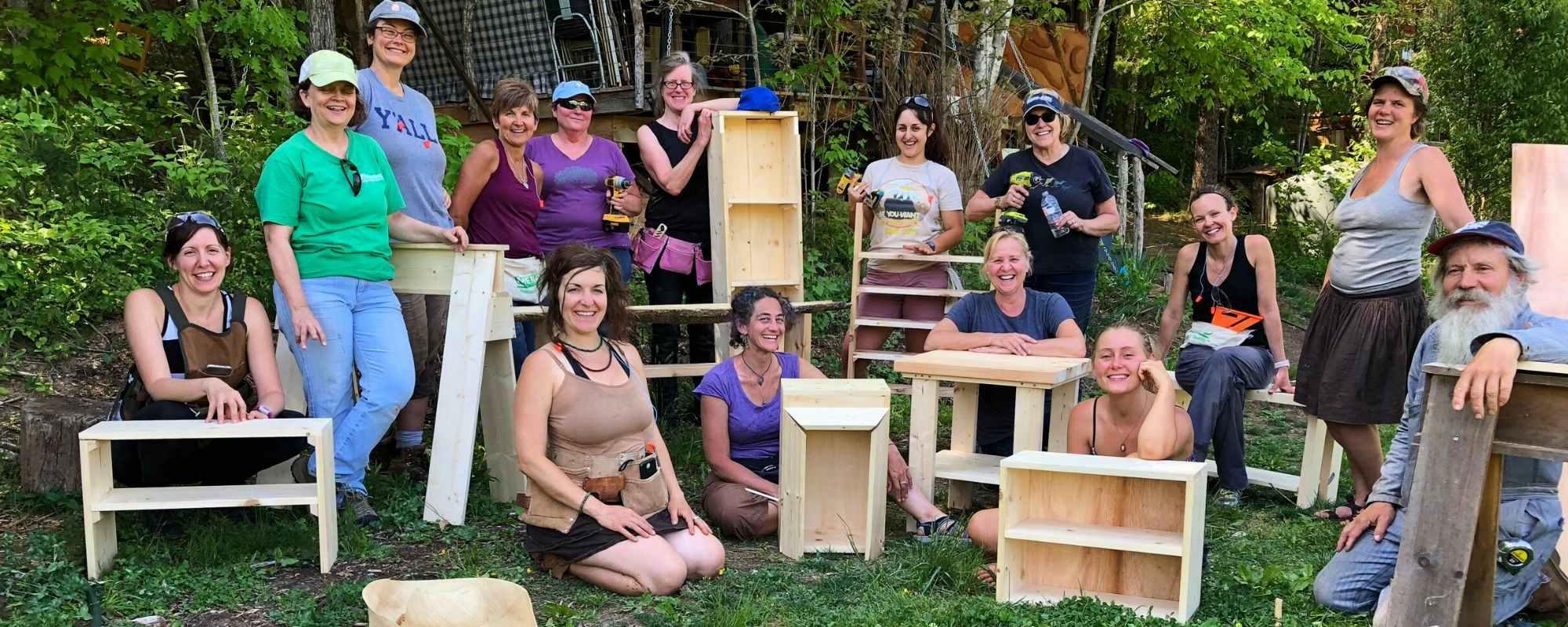 women's carpenty class, wild abundance