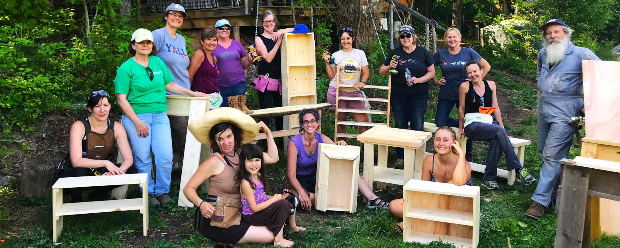 Women S Basic Carpentry And Woodworking Class 2020 Wild Abundance