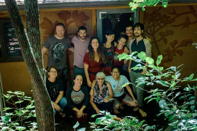 Students in a permaculture design course