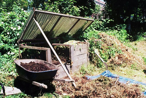 Compost pile for permaculture homestead