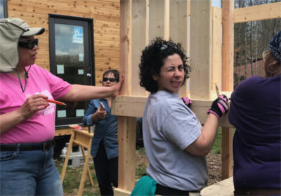 women carpenters learning to build