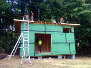 build your own tiny house on skids