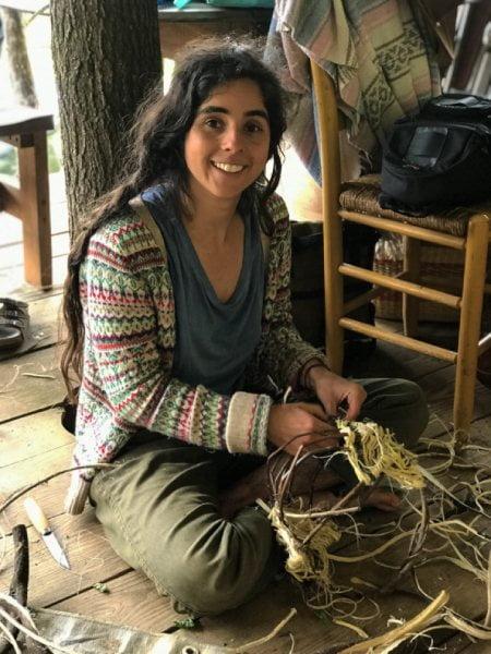 apprentice weaving basket