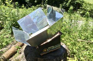outdoor kitchen solar oven