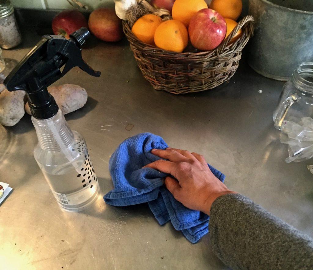 using herbal-infused vinegar as a natural cleaner