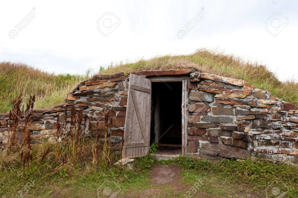 old fashioned underground root cellar
