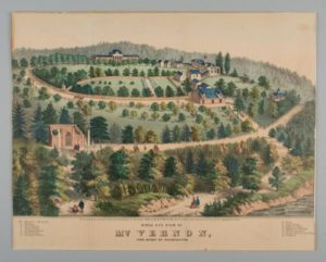 historical image of George Washington's apple orchard at Mt. Vernon