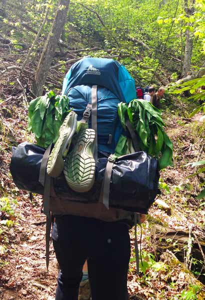 a bug out bag in a backpack