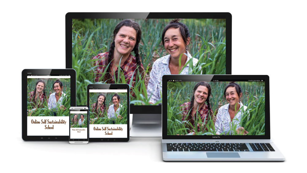 Natalie and Chloe on all devices for online gardening school