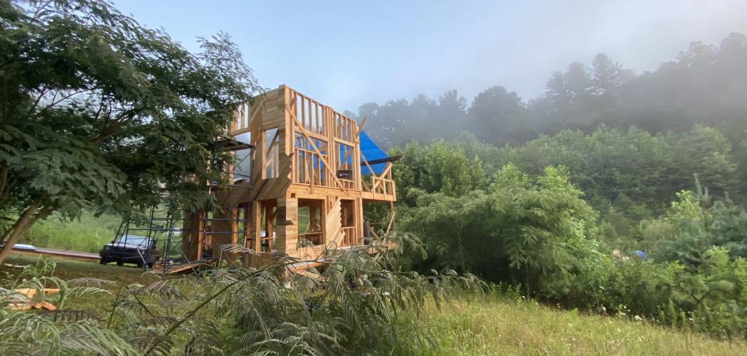 tiny house building in progress
