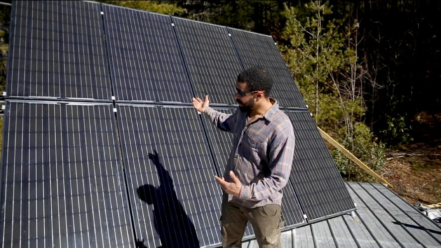 online tiny house academy instructor teaching about solar panels