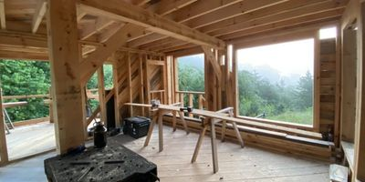tiny house build in process
