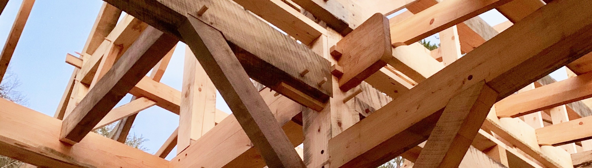 beams of timber frame building