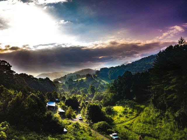 vista of the blue ridge mountains
