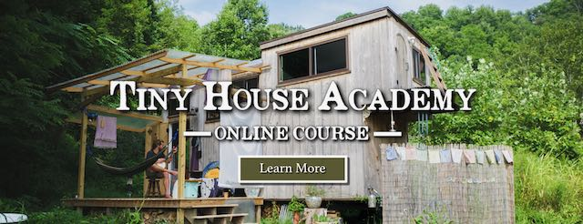 banner ad for online tiny house academy
